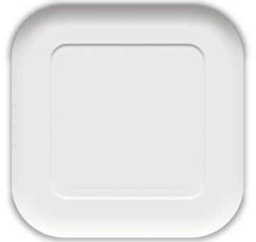 Πιάτα Τετράγωνα Λευκά Decorata 23x23cm Πακ 10τμχ