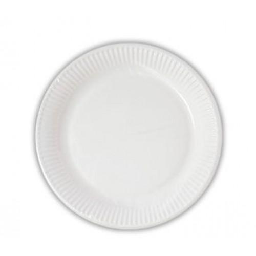 Πιάτα Λευκά Decorata 19.5cm Πακ 10τμχ