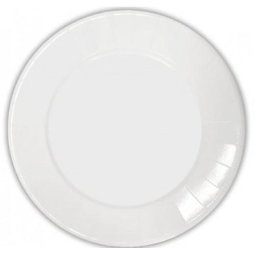 Πιάτα Λευκά Decorata 23cm Πακ 10τμχ
