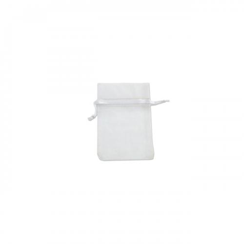 Πουγκί Οργάντζα Λευκό 5Χ7.5cm