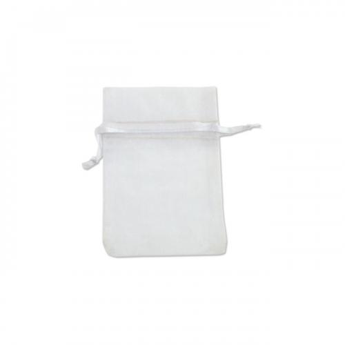 Πουγκί Οργάντζα Λευκό 7.5Χ10cm
