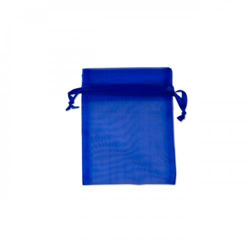 Πουγκί Οργάντζα Μπλε Σκούρο 10X12.5cm