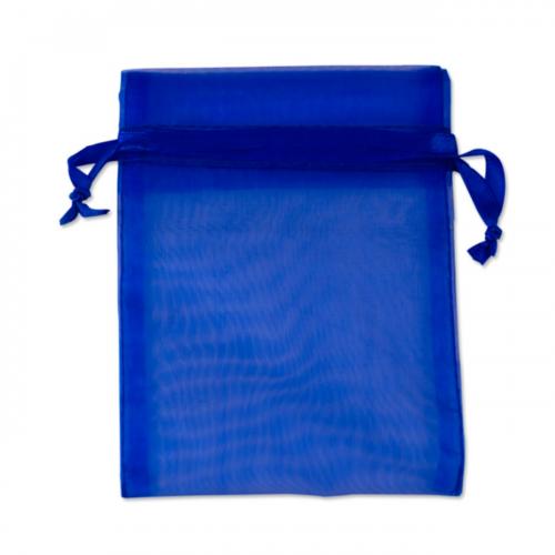 Πουγκί Οργάντζα Μπλε Σκούρο 12.5X15.5cm
