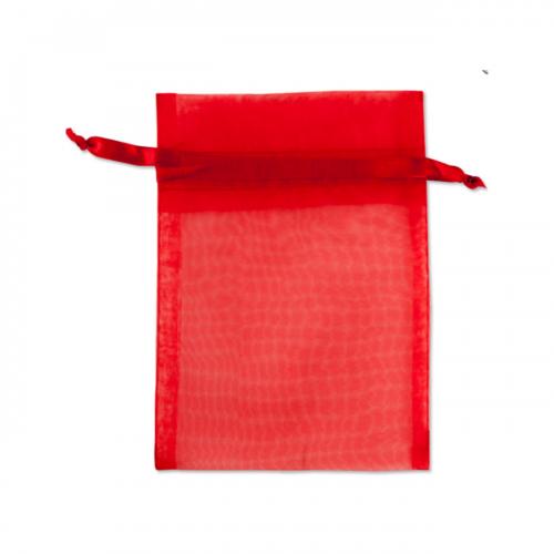 Πουγκί Οργάντζα Κόκκινο 12.5X15.5cm