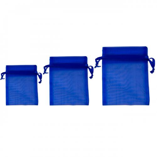 Πουγκί Οργάντζα Μπλε Σκούρο 7.5Χ10cm