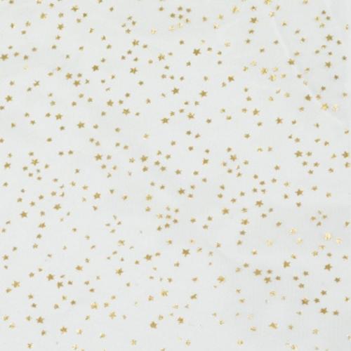 Τούλι Γαλλικό Εκρού Με Χρυσά Αστέρια 29x29cm Πακ 100τμχ