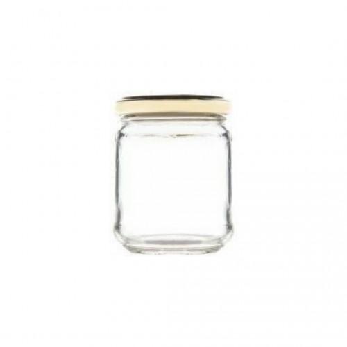 Βάζο Γυάλινο με Χρυσό Καπάκι 106ml