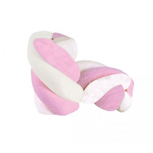 "Marshmallows ""Καραμάνης"" Twist Ροζ - Λευκό Πακ 1kg"