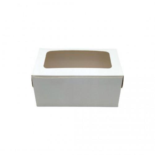 Κουτί Χάρτινο Με Παράθυρο Λευκό 16x9x7.5cm