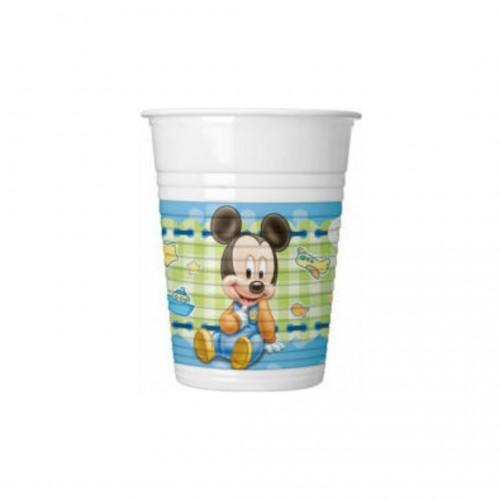 Ποτήρια Πλαστικά Baby Mickey Πακ 8τμχ