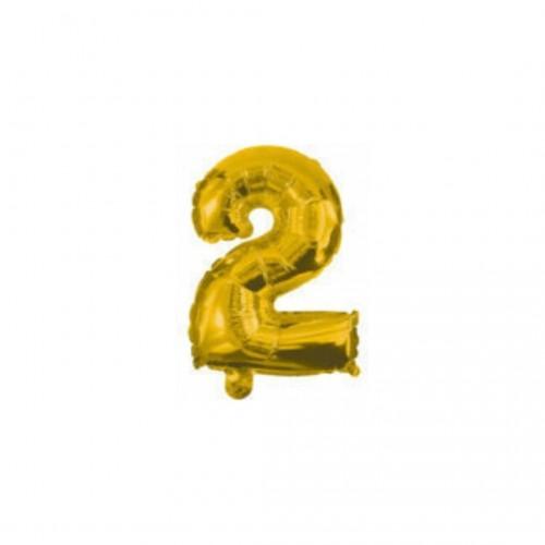 Μπαλόνι Αριθμός Χρυσό No2 10cm