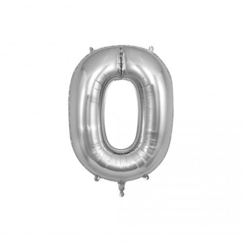 Μπαλόνι Αριθμός Ασημί Νο0 10cm