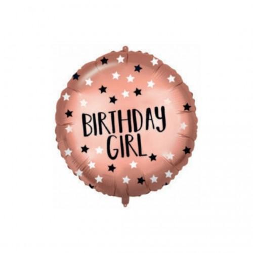 Μπαλόνι Foil Rose Gold B-Day Girl 46cm