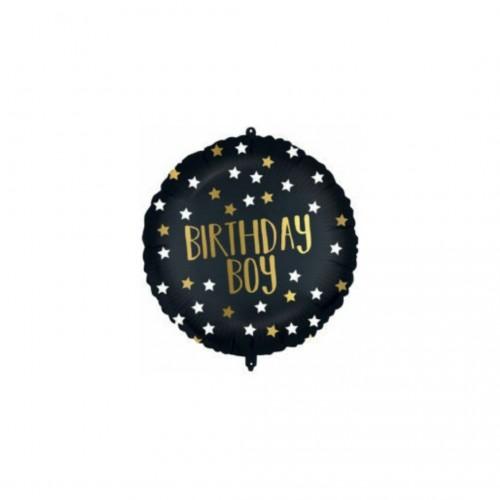 Μπαλόνι Foil Black Gold B-Day Boy 46cm