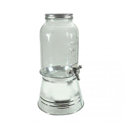 Διανεμητής Ποτών Γυάλινος με Inox Βάση 3.8lt