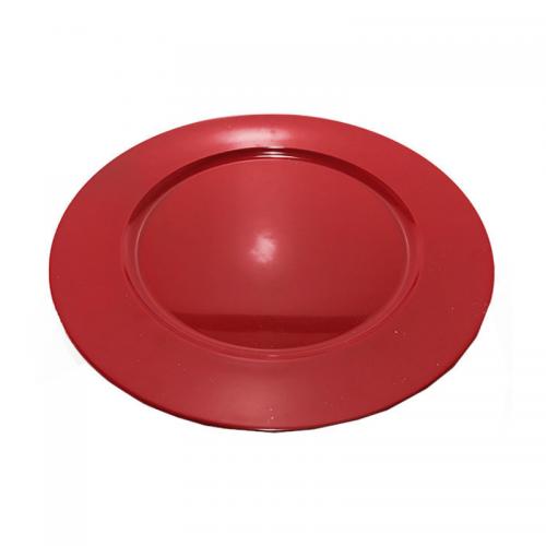 Πιατέλα Πλαστική Κόκκινη 33cm