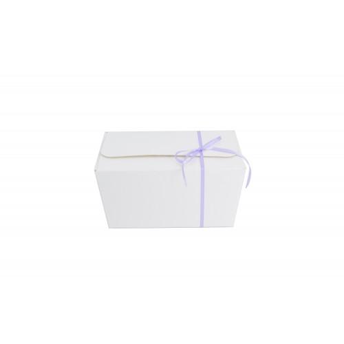 Κουτί Πραλίνας Λευκό 15Χ8Χ9cm