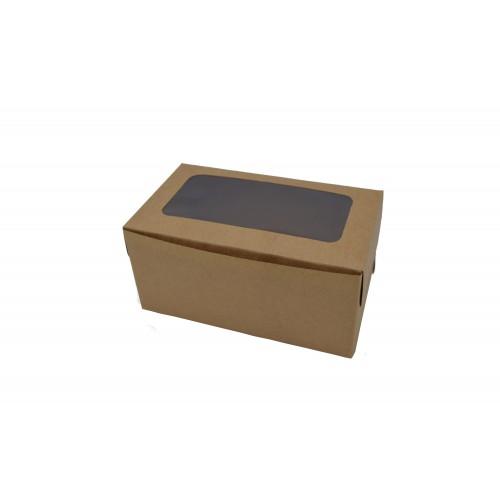 Κουτί Χάρτινο με Παράθυρο Κραφτ 16Χ9Χ7.5cm
