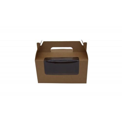 Κουτί Χάρτινο με Λαβή&Παράθυρο Κραφτ 16.5Χ9.5Χ9cm