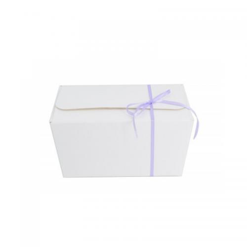 Κουτί Πραλίνας Λευκό 17Χ10Χ8cm