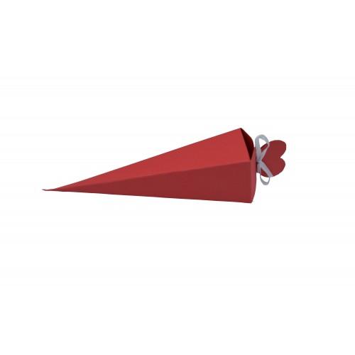Κουτί Πυραμίδα Κόκκινο 15.5Χ4Χ4cm