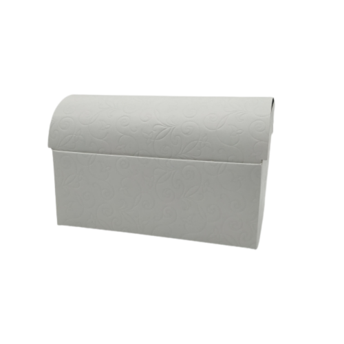 Κουτί Μπαουλάκι Λευκό Ανάγλυφο 18Χ11.5Χ10.5cm