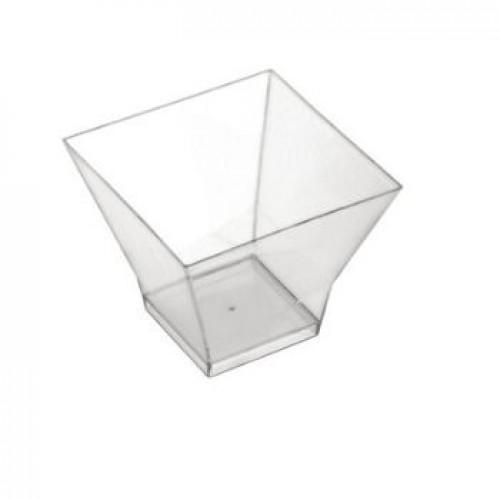 Πλαστικό Σκεύος Διαμάντι 220ml Πακ 40τμχ