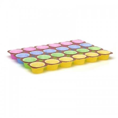 Φόρμες Ψησίματος Στρογγυλές Χρωματιστές 24τμχ