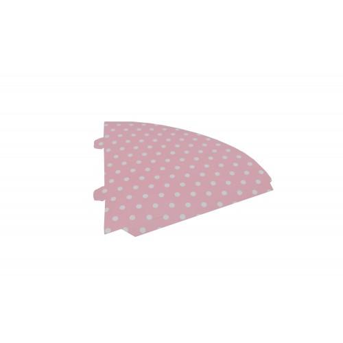 Χωνάκι Ζαχαρωτών Ροζ Λευκό Πουά 21Χ9cm