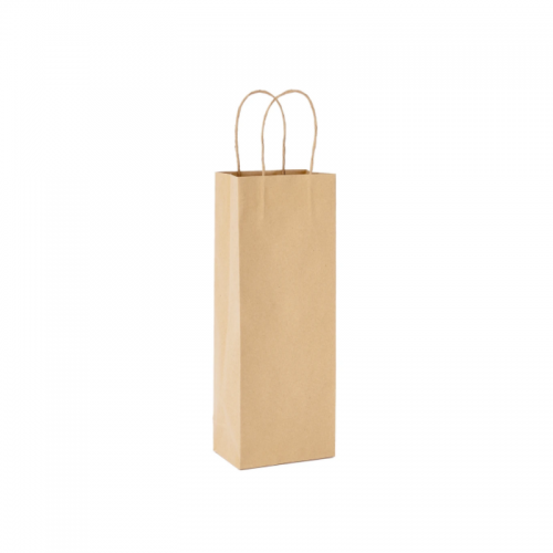 Τσάντα Χάρτινη με Στριφτή Λαβή Κραφτ 39.5Χ15Χ8cm