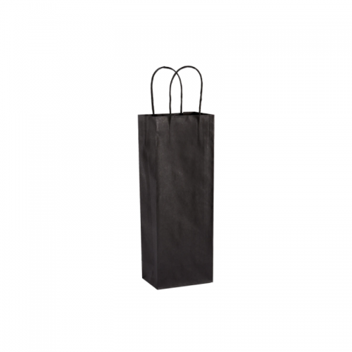 Τσάντα Χάρτινη με Στριφτή Λαβή Μαύρη 39.5Χ15Χ8cm