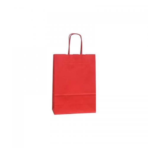 Τσάντα Χάρτινη με Στριφτή Λαβή Κόκκινη 42.5Χ32Χ13cm