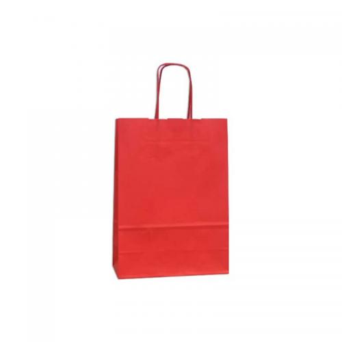 Τσάντα Χάρτινη με Στριφτή Λαβή Κόκκινη 46Χ36Χ12cm